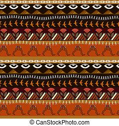 estilo, elementos, egipcio, patrón, seamless, étnico