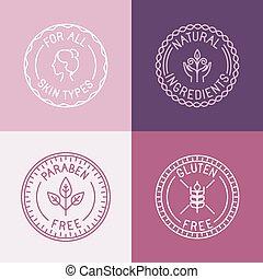 estilo, emblemas, linear, jogo, vetorial, trendy, emblemas