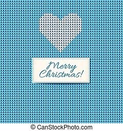 estilo, escandinavo, tejido, feliz navidad, tarjeta