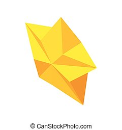 estilo, estrela, abstratos, isometric, ícone, 3d
