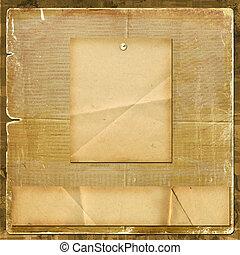 estilo, felicitación, diseño, invitación, scrapbooking, o, tarjeta