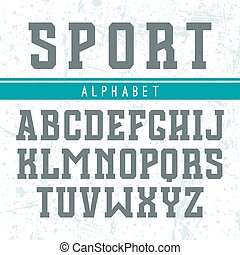estilo, fuente, colegio, serif, rectangular