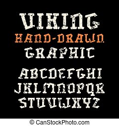 estilo, fuente, hechaa mano, serif, gráficos