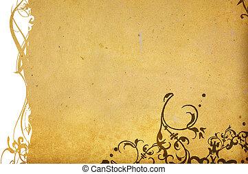 estilo, fundos, espaço, seu, texturas, floral, frame-with, desenho