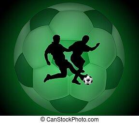 estilo, futbol, plano de fondo, radiografía