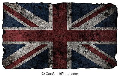 estilo, grunge, bandeira, britânico