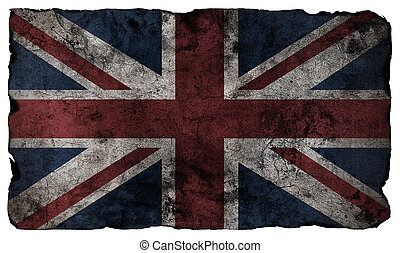 estilo, grunge, bandera, británico