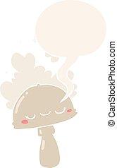 estilo, hongo, spoor, discurso, retro, burbuja, caricatura, ...