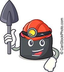 estilo, ikura, mineiro, caricatura, mascote