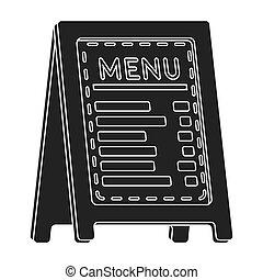 estilo, illustration., ícone, menu, símbolo, isolado, ...