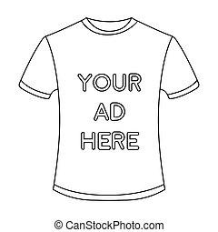 estilo, illustration., ícone, símbolo, isolado, experiência., vetorial, anunciando, anúncio, branca, estoque, roupa, esboço
