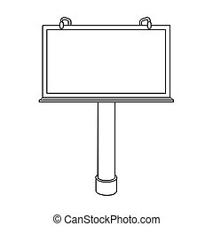 estilo, illustration., ícone, símbolo, isolado, experiência., vetorial, anunciando, billboard, branca, estoque, esboço