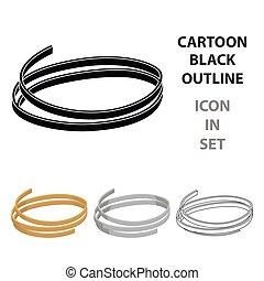 estilo, illustration., ícone, símbolo, isolado, experiência., vetorial, macarronada, branca, tagliatelle, caricatura, tipos, estoque