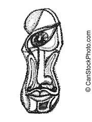 estilo, illustration., constructivism, impresiones, resumen,...