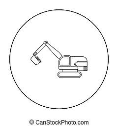 estilo, illustration., escavador, símbolo, isolado, mina, experiência., vetorial, ícone, branca, estoque, esboço