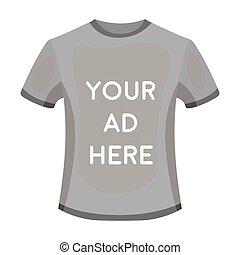 estilo, illustration., símbolo, isolado, experiência., vetorial, anunciando, anúncio, monocromático, branca, ícone, roupa, estoque