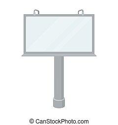 estilo, illustration., símbolo, isolado, experiência., vetorial, anunciando, billboard, branca, ícone, caricatura, estoque