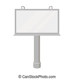 estilo, illustration., símbolo, isolado, experiência., vetorial, anunciando, billboard, monocromático, branca, ícone, estoque