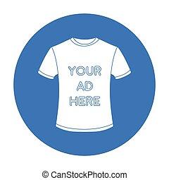 estilo, illustration., símbolo, isolado, experiência., vetorial, pretas, anunciando, anúncio, branca, ícone, roupa, estoque