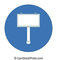 estilo, illustration., símbolo, isolado, experiência., vetorial, pretas, anunciando, billboard, branca, ícone, estoque