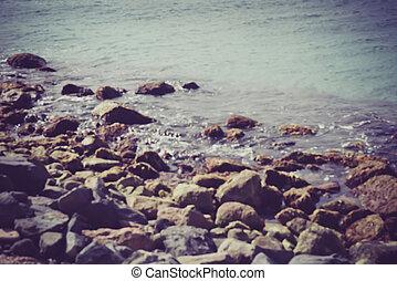 estilo, instagram, obscurecido, filtro, fundo, oceânicos