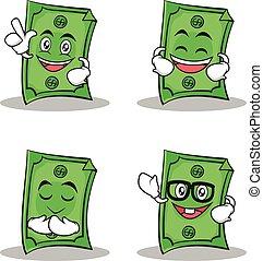 estilo, jogo, dólar, personagem, cobrança, caricatura