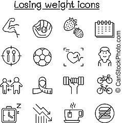 estilo, jogo, estilo vida, saudável, peso, condicão física, magra, dieta, perdendo, linha, ícone