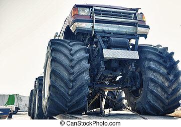 estilo libre, camión, motor, tipical