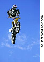 estilo libre, saltar, motocicleta