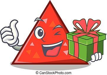 estilo, mascota, triangel, regalo, caricatura