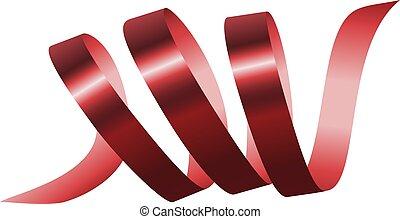 estilo, mockup, realístico, partido, vermelho, serpentina