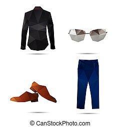 estilo, moda, fundos, isolado, branca, homem