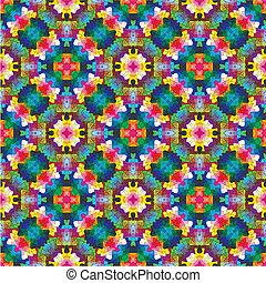 estilo, modernos, oriental, mosaico