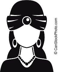 estilo, mujer, fortuna, simple, icono, cajero