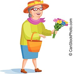 estilo, mulher, antigas, caricatura