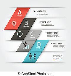 estilo, negócio, modernos, steb, origami