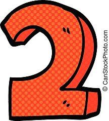 estilo, numere dois, livro, cômico, caricatura