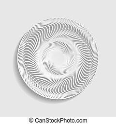 estilo, ojo, illustration., mandala., papel, geométrico, ...