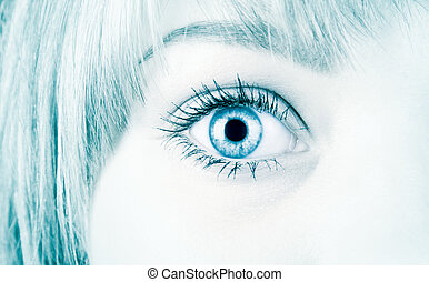 estilo, olho mulher, olá-tecnologia