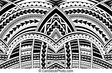 estilo, ornament., samoa