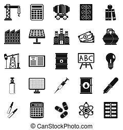 estilo, outlay, conjunto, iconos simples