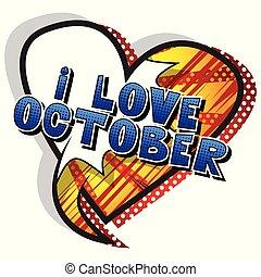 estilo, outubro, amor, -, livro, palavra, cômico