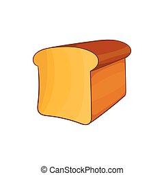 estilo, pão, caricatura, ícone