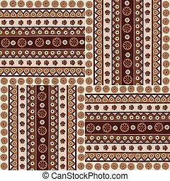 estilo, padrão, étnico, seamless, ornamentos, africano