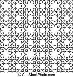 estilo, padrão, seamless, delicado, árabe