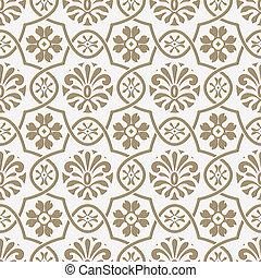 estilo, papel, seamless, floral, indio, vector, corte, patrón