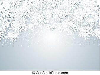 estilo, papercut, 1711, copos de nieve, diseño, navidad