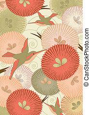 estilo, patrón, japonés