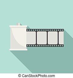 estilo, película, ícone, apartamento, rolo