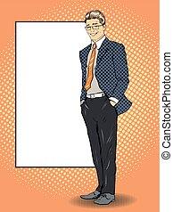 estilo, poseer, arte, illustration., cómicos, texto, blanco...